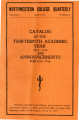 Catalog of the Thirteenth Academic Year 1912-1913 and Announcements for 1913-1914