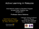 Active Learning in Malaysia