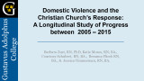 Domestic Violence and the...