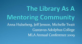 The Library as a Mentoring Community
