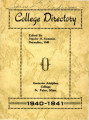 College Directory, 1940-41