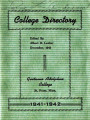 College Directory, 1941-42